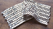 Hand Woven Silver Bead Fabric